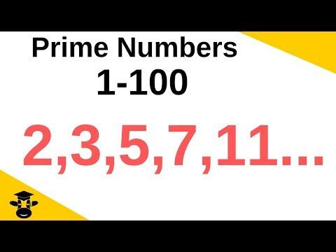 Prime numbers 1-100