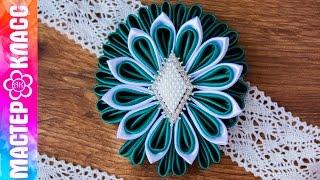 Como fazer um belo broche pétalas kanzashi by Kulikova