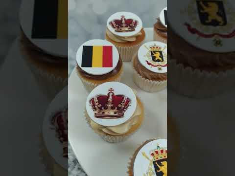 Fête du roi en Belgique, cupcakes personnalisés
