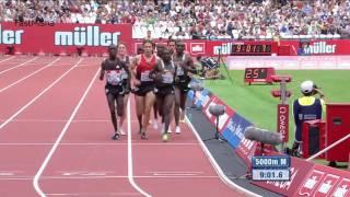 Mo Farah wins Men's 5000m at London Diamond League 2016 FULL RACE