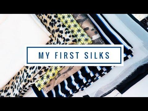 Fabric Haul ✁ My first Silks