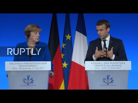 LIVE: Merkel and Macron hold joint press conference in Paris