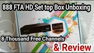 UNBOXING: 888 FTA Full HD Set top Box Unboxing & Review, Enjoy 8 Thousand FREE Channels (Must Watch)
