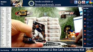 Ohtani! Florialx2! Robinson! 2018 Bowman Chrome Baseball 12 Box Case Break Hobby #18