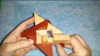 Solution for Star of David from Puzzle Master Wood Puzzles