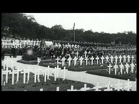 Memorial Day activities to honor American war dead from World War I, at Suresnes ...HD Stock Footage