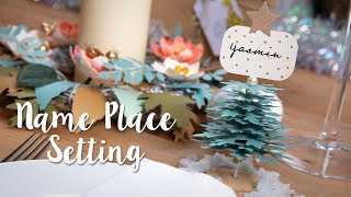 Christmas Table Decorations - Place Name - Sizzix Lifestyle