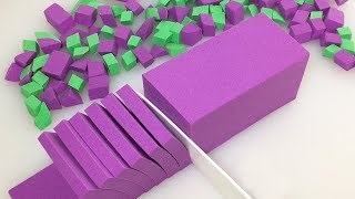 Very Satisfying Video Compilation 59 Kinetic Sand Cutting ASMR
