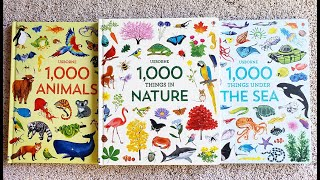 Usborne 1000 Things in Nature, 1000 Animals 1000, Things Under the Sea