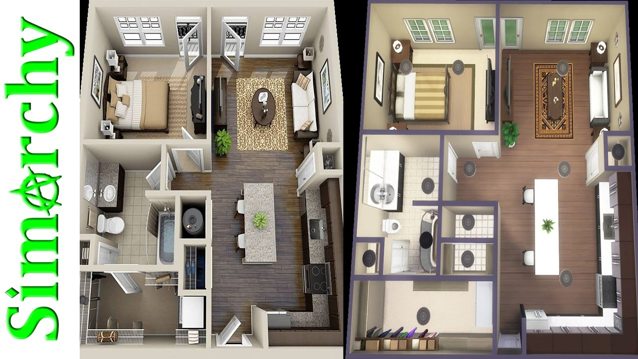 The sims 4 speed build 1 bed 1 bath apartment lets get to know each other floor plan recreation