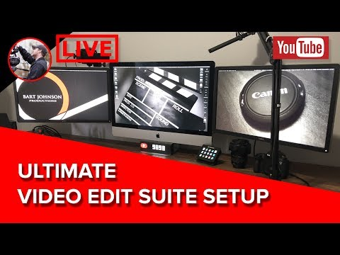 🔴 New Ultimate Edit Suite Setup and What I'm Up To - LIVE