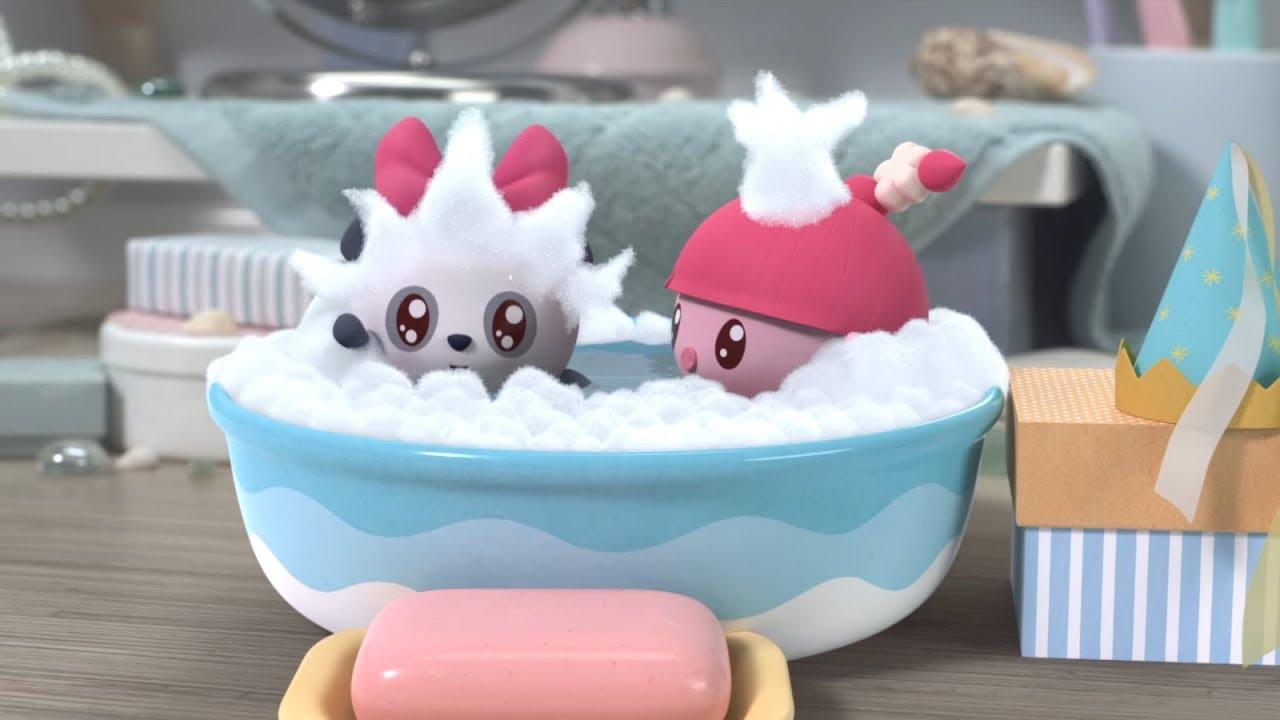 Малышарики - Русалочка. Моемся (Новая серия 98) Песенка про умывание, мыло, чистоту, мыльные пузыри