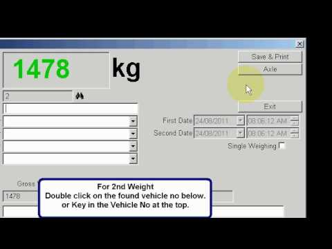 Weighbridge Software-How to capture 1st and 2nd Weight
