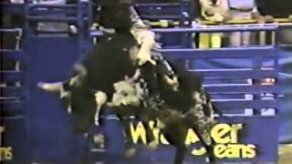 Mr. T, Bucking Bull - NFR 1987.