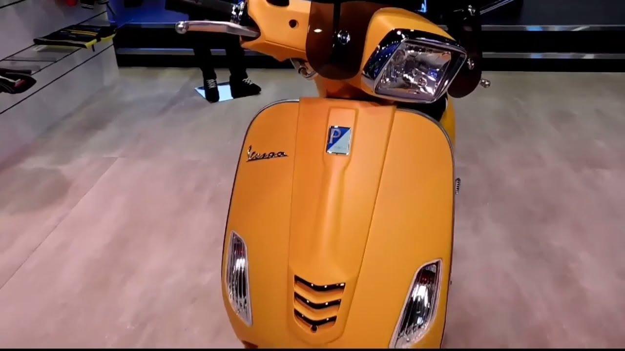Piaggio Vespa Sxl 150 Matte Colours Walkaround Auto Expo 18