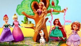 Sofia The First Forest Playset Disney Frozen Dolls Princess Anna Elsa Olaf Swing Turns