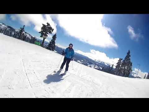Spring skiing at Mt. Washington, Vancouver Island BC