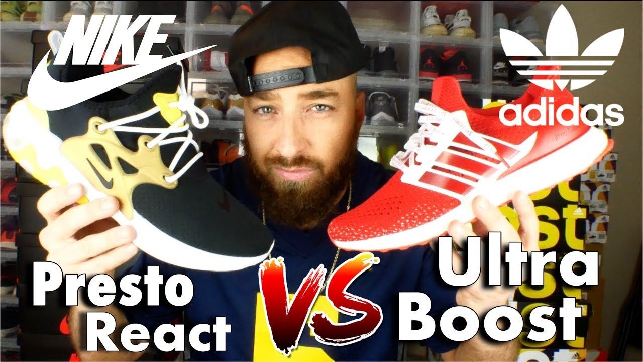 Nike Presto React Vs. Adidas Ultra
