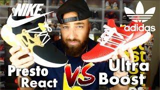 Nike Presto React Vs. Adidas Ultra Boost Comfort Comparison!!