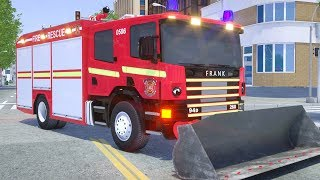 Fire Truck Frank Cleaning Tunnel From Stones - Wheel City Heroes (WCH) Firefighter Cartoon for Kids