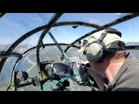 """B-25J Mitchell Bomber Ride - """"Executive Sweet"""" Over Donner Summit, Ca."""