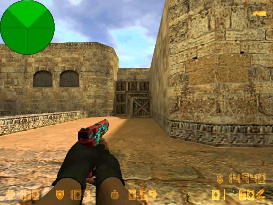 Модель glock-18 «дух воды» с анимацией осмотра для cs 1. 6.