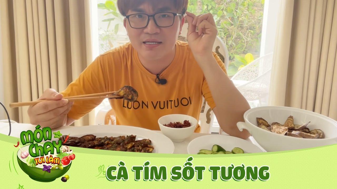 Nghĩa làm CÀ TÍM SỐT TƯƠNG và làm cà tím khô để ăn dần   Món Chay Tui Làm Tập 91