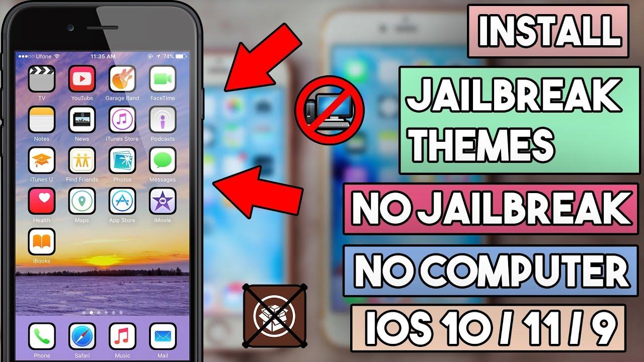 New How To Install Jailbreak Themes On iOS 10/11/9 (NO JAILBREAK ...