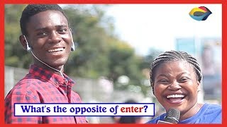 What is the opposite of ENTER? | Street Quiz | Funny Videos | Funny African Videos | African Comedy