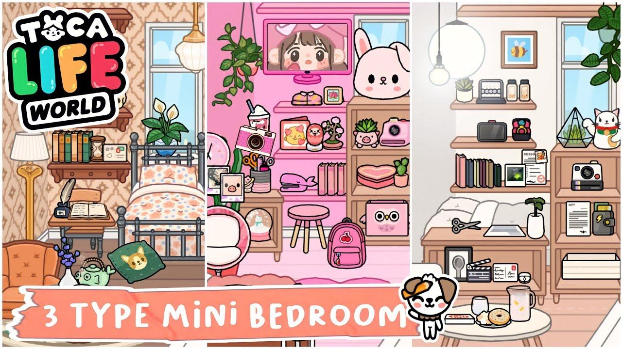 Toca Life World : 3 Type Mini Bedroom | MINIMALIST X VINTAGE X CUTE | Toca Boca