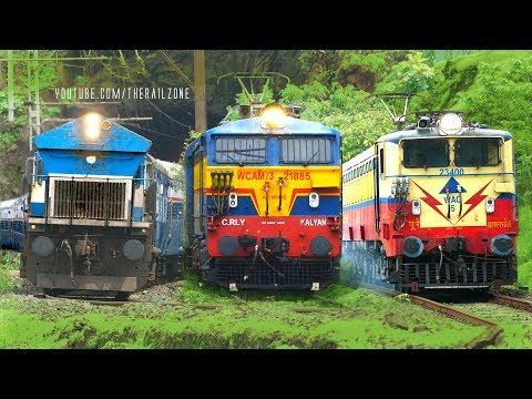 EXPRESS Trains | MUMBAI - PUNE | BHOR Ghats | Indian Railways -1