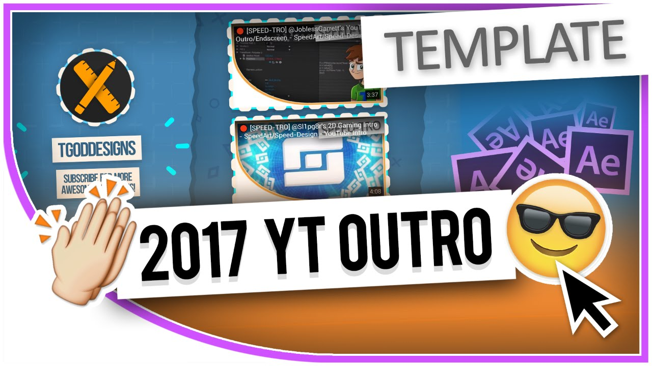You Endscreen Template Free With Tutorial Hd New Layout After Effects Cc 2017