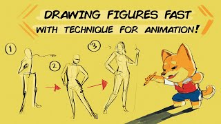 Drawing Figures Fast with Technique for Animation