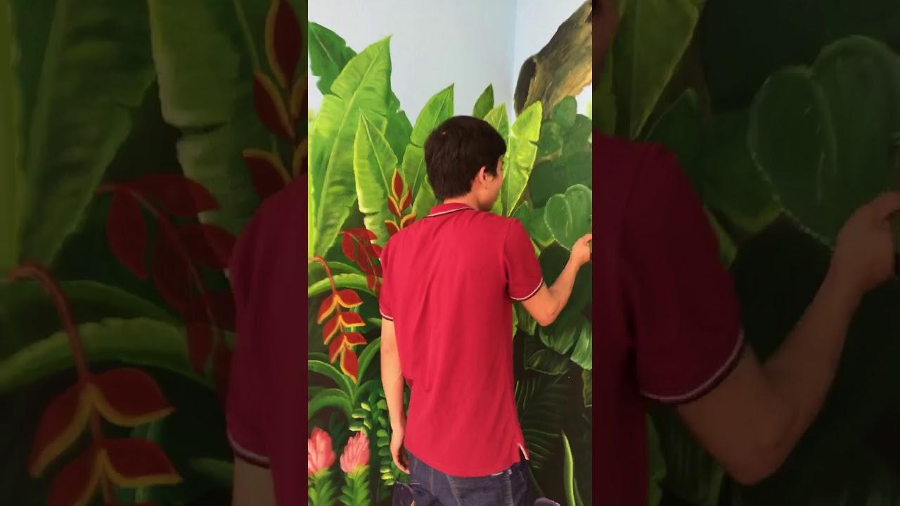Vẽ tranh tường 3D trường tiểu học (P1)