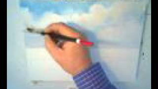 How To Paint A Blue Sky With Clouds