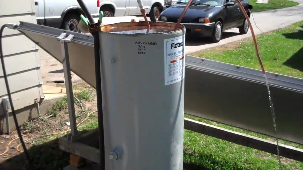 Solar hot water copper coil pipe install youtube for Copper pipe heater