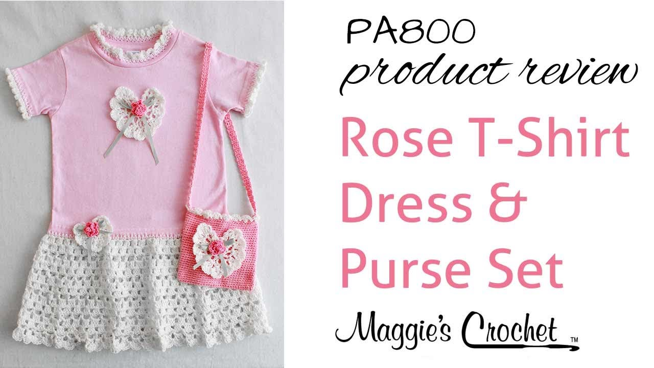 Rose T Shirt Dress and Purse Pattern Review PA800 - YouTube