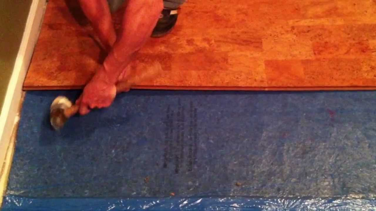 How To Install Lock And Fold Cork Flooring Youtube