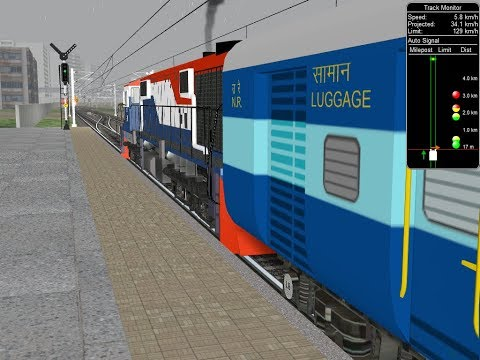 Delhi Sarai Rohilla - Firozpur Cantt. InterCity Express || Part One || IR In MSTS Open Rail