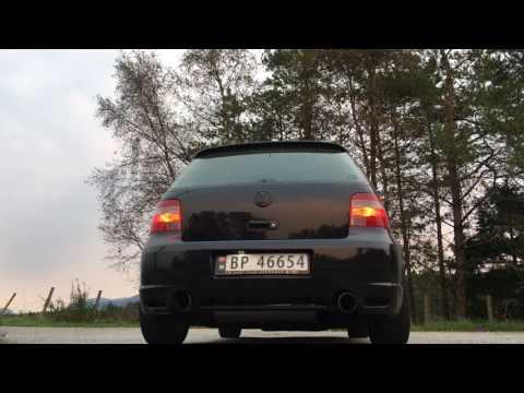 R28 VW Golf MKIV v6 vr6 milltek exhaust sound
