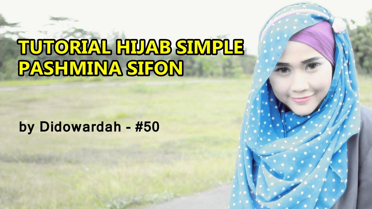 Model Kerudung Pashmina Sifon Tutorial Hijab Simple By