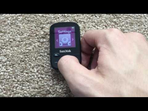 Sandisk Clip Sport MP3 Player Newer Setup