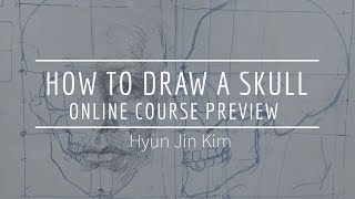 """How To Draw A Skull"" Online Course Preview: Facial Expression"