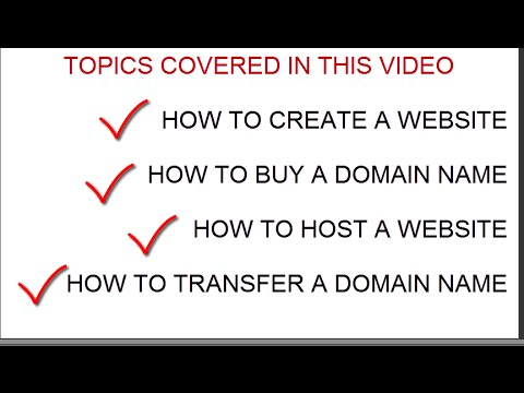 {AllinOne}How to Create a Website-Buy a Domain Name-Host a Website