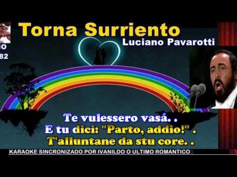 Torna Surriento - Luciano Pavarotti - karaoke