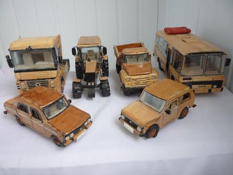 Деревянные модели авто