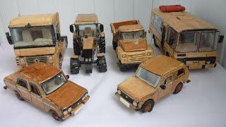 Деревянные модели авто HD