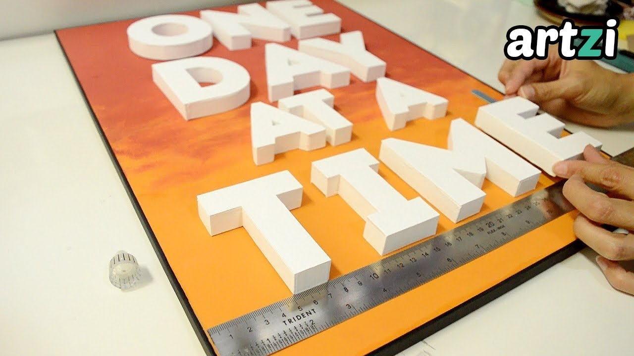3d Letter Diy.Diy Wall Sign With 3d Letters