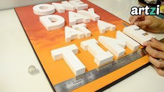 Diy Wall Sign With 3d Letters