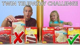 Twin Telepathy Cake Challenge!